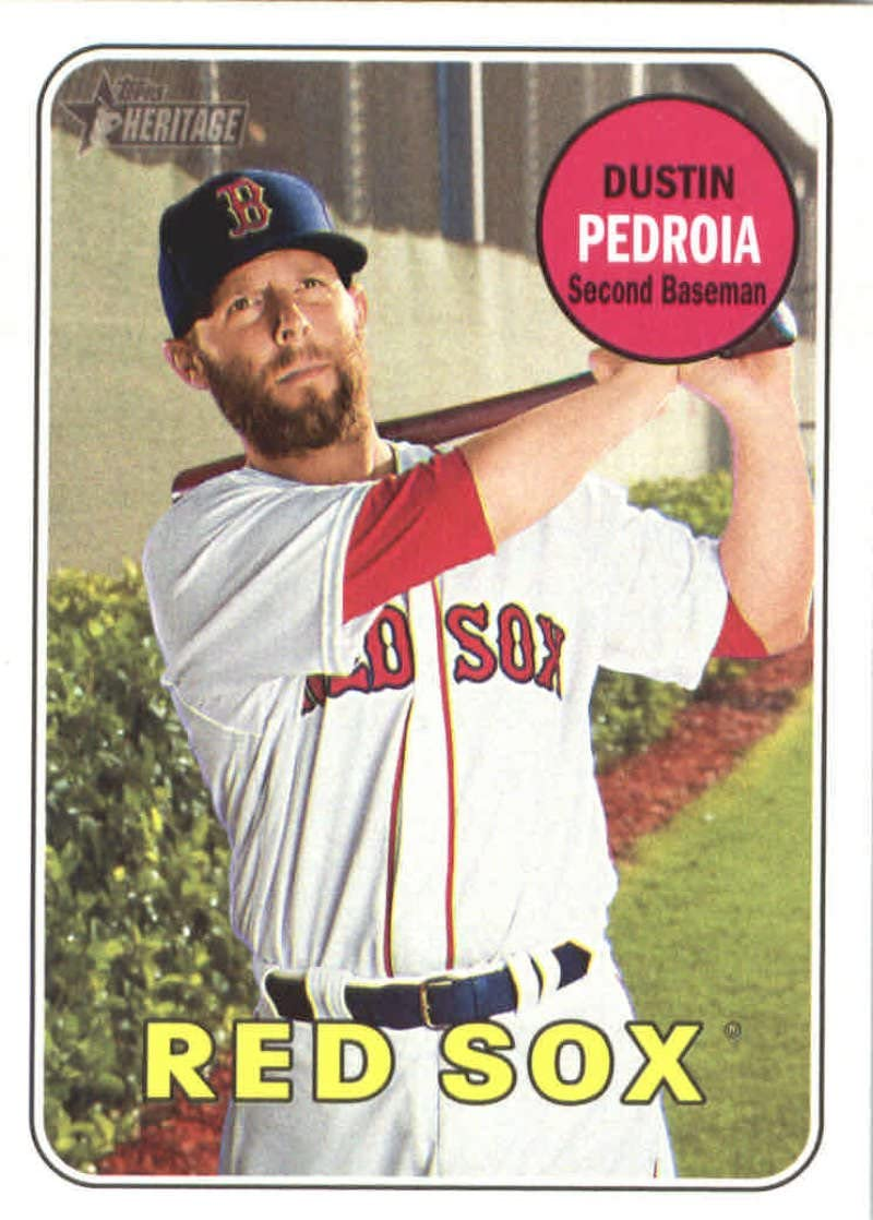 2018 Topps Heritage #349 Dustin Pedroia Red Sox