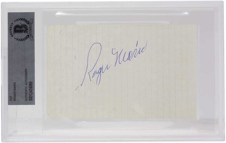Roger Maris New York Slabbed Signature Cut BGS 069