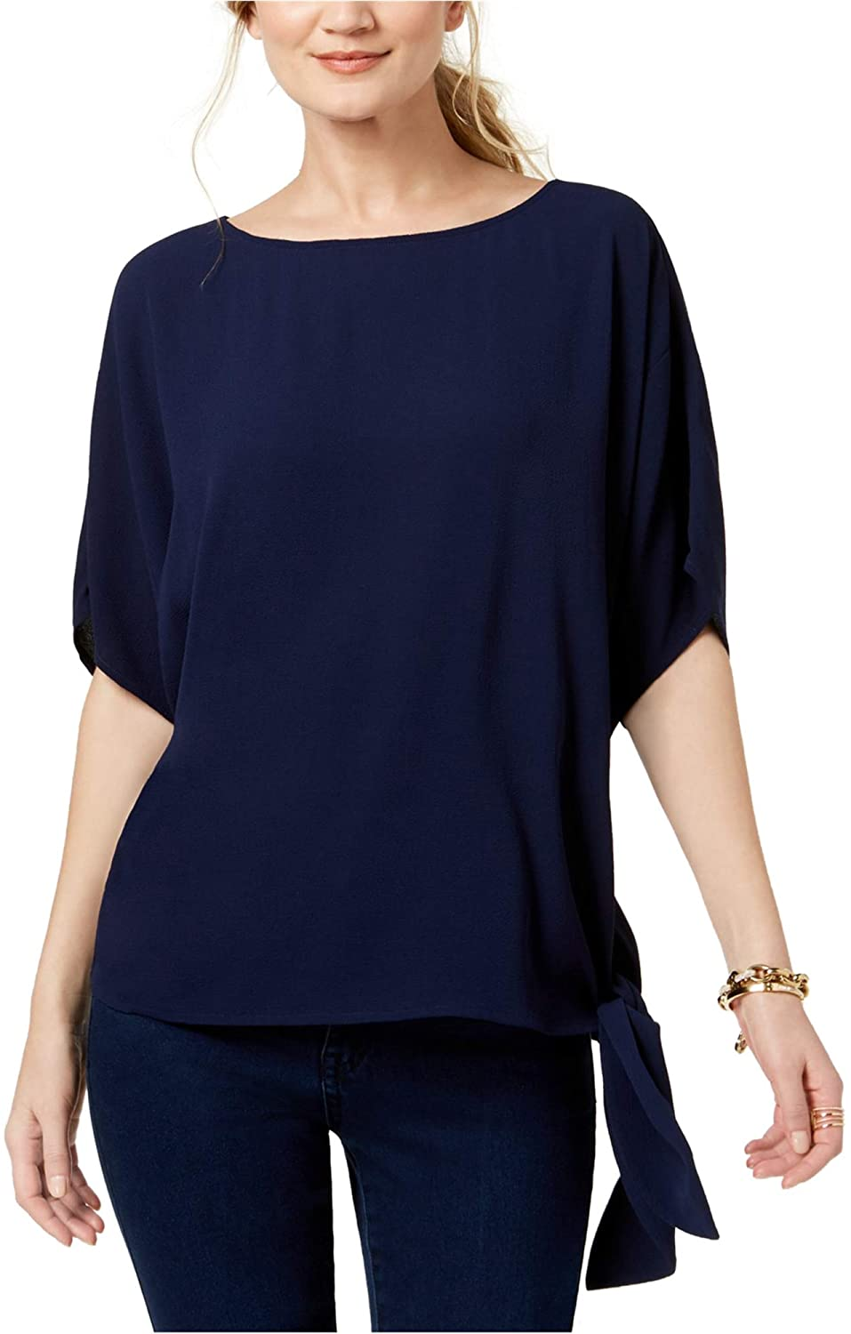 Michael Kors Womens Side-Tie Pullover Blouse