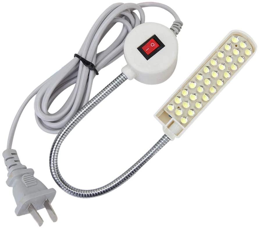 Magnetic Mounting Base Worklight Gooseneck Lamp 110v + 30 LED Light for Home or Sewing Machine