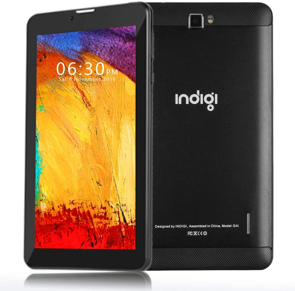 Indigi Slim 7-inch WiFi Tablet PC w/DualSIM s - Support 4G LTE Wireless GSM AT&T T-Mobile (Black)