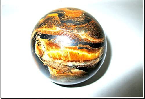 Jet Tiger Eye 45-50 mm Ball Sphere Gemstone A+ Hand Carved Crystal Altar Healing Devotional Focus Spiritual Chakra Cleansing Metaphysical
