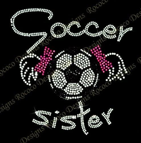 Soccer Sister Rhinestone Iron on Hotfix Transfer - 8
