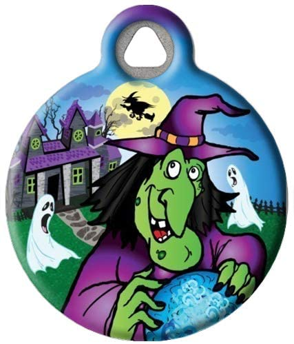Dog Tag Art Spooky Halloween Custom Pet ID Tag for Dogs (Small), Cute, Funny Halloween Dog Tags and Cat Tags, Personalized Dog Tags with Customized Identification Information, Holiday Dog Collar Tags
