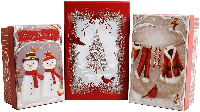 ALEF Elegant Decorative Holiday Themed Nesting Gift Boxes - 7
