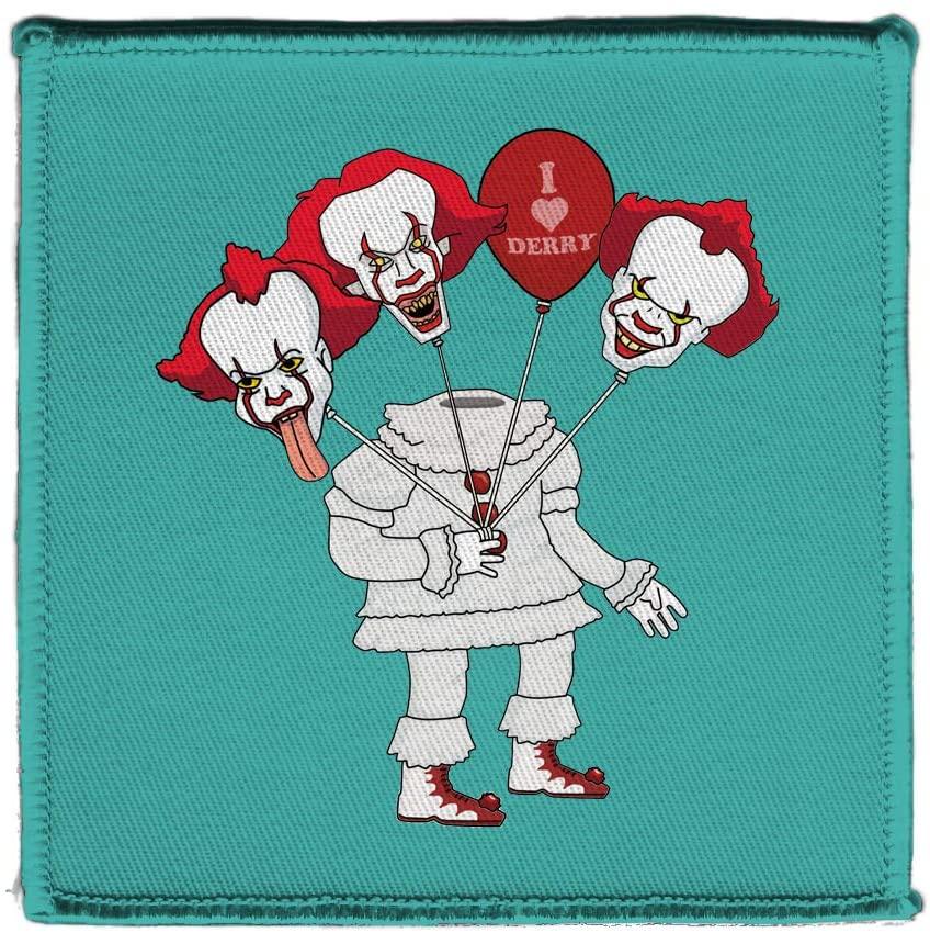 Hat Shark Creepy Headless Clown with Bouquet of Clown Head Balloons Horror Movie Parody 4