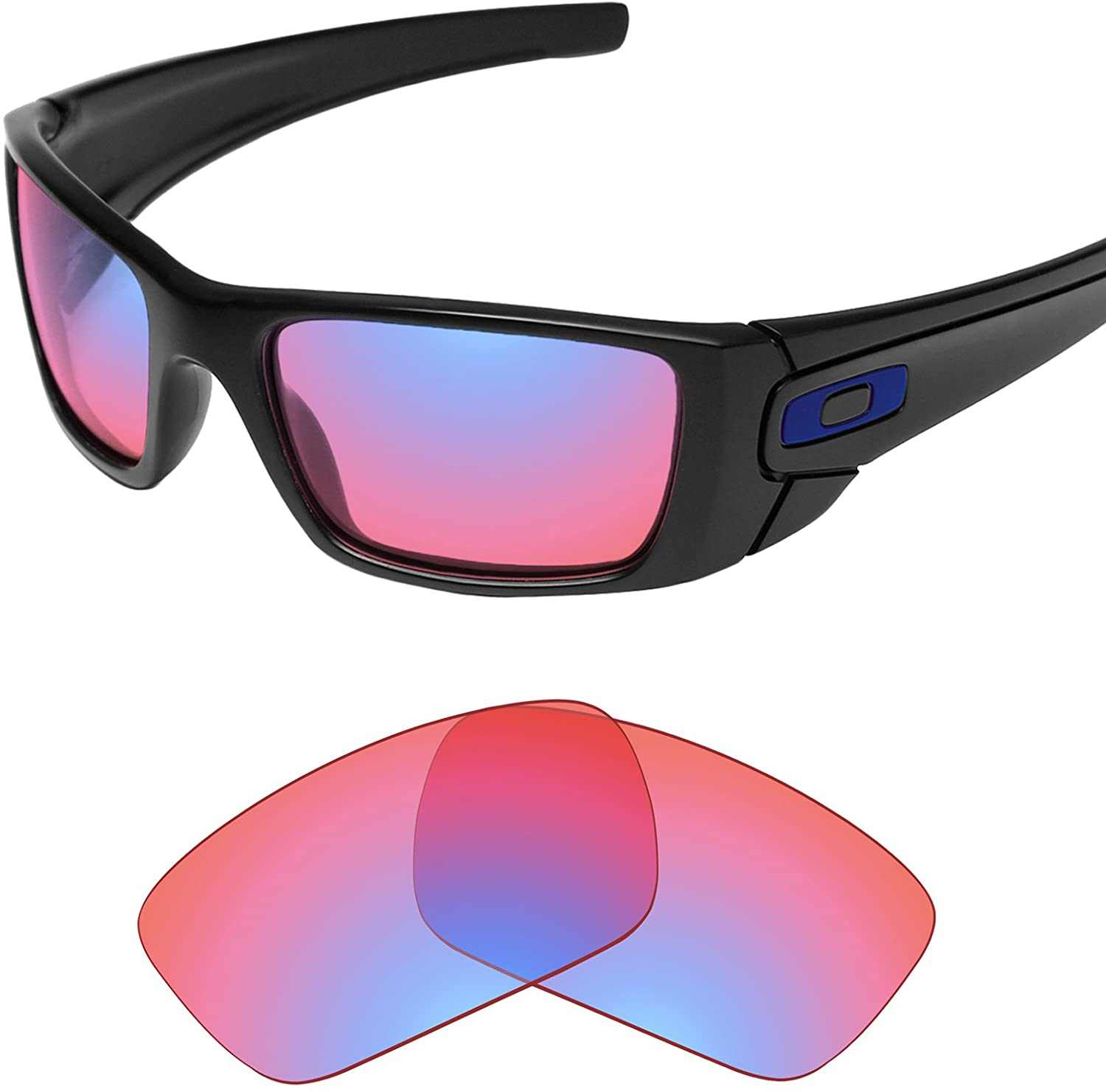 Tintart Performance Lenses Compatible with Oakley Fuel Cell - HD Trail Ruby