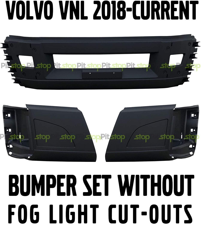 NEW Volvo VNL 2018 2019 2020 Bumper Set Left Right Center WITHOUT Fog Light