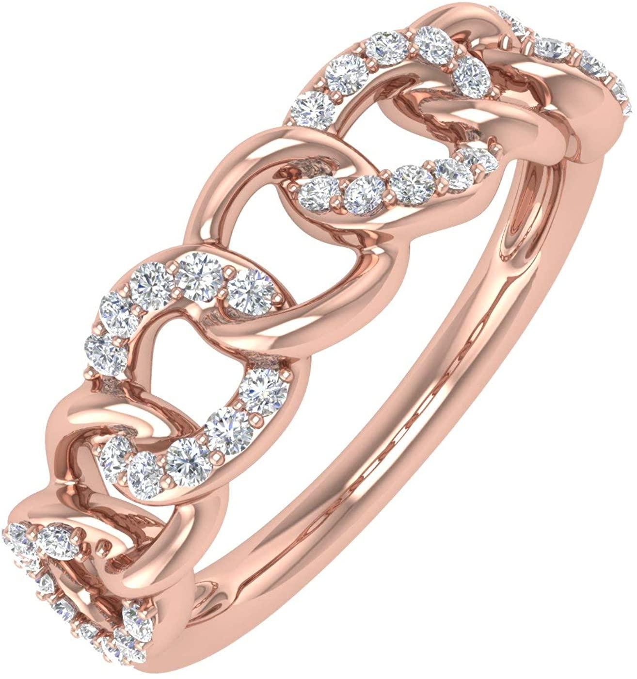 1/4 Carat Diamond Wedding Band Ring in 10K Gold