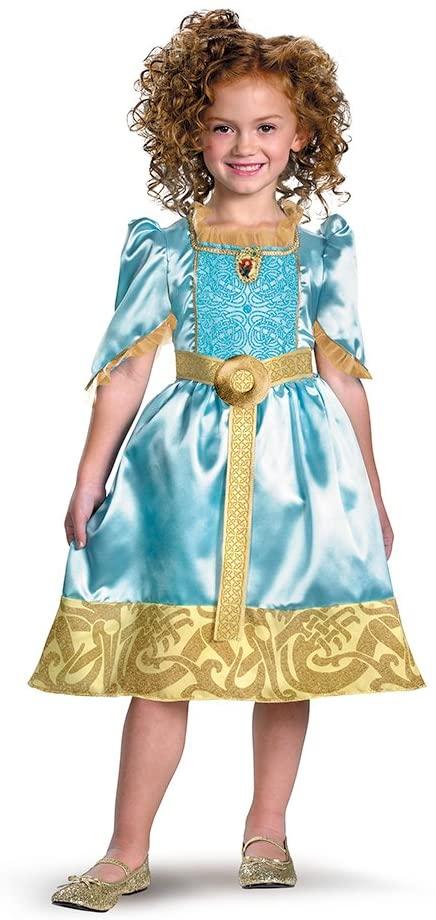 Brave Merida Classic Costume, Auqa/Gold, Small
