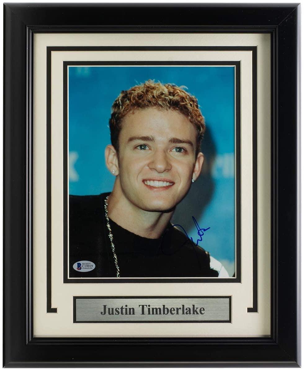 Justin Timberlake Signed Framed 8x10 Photo BAS