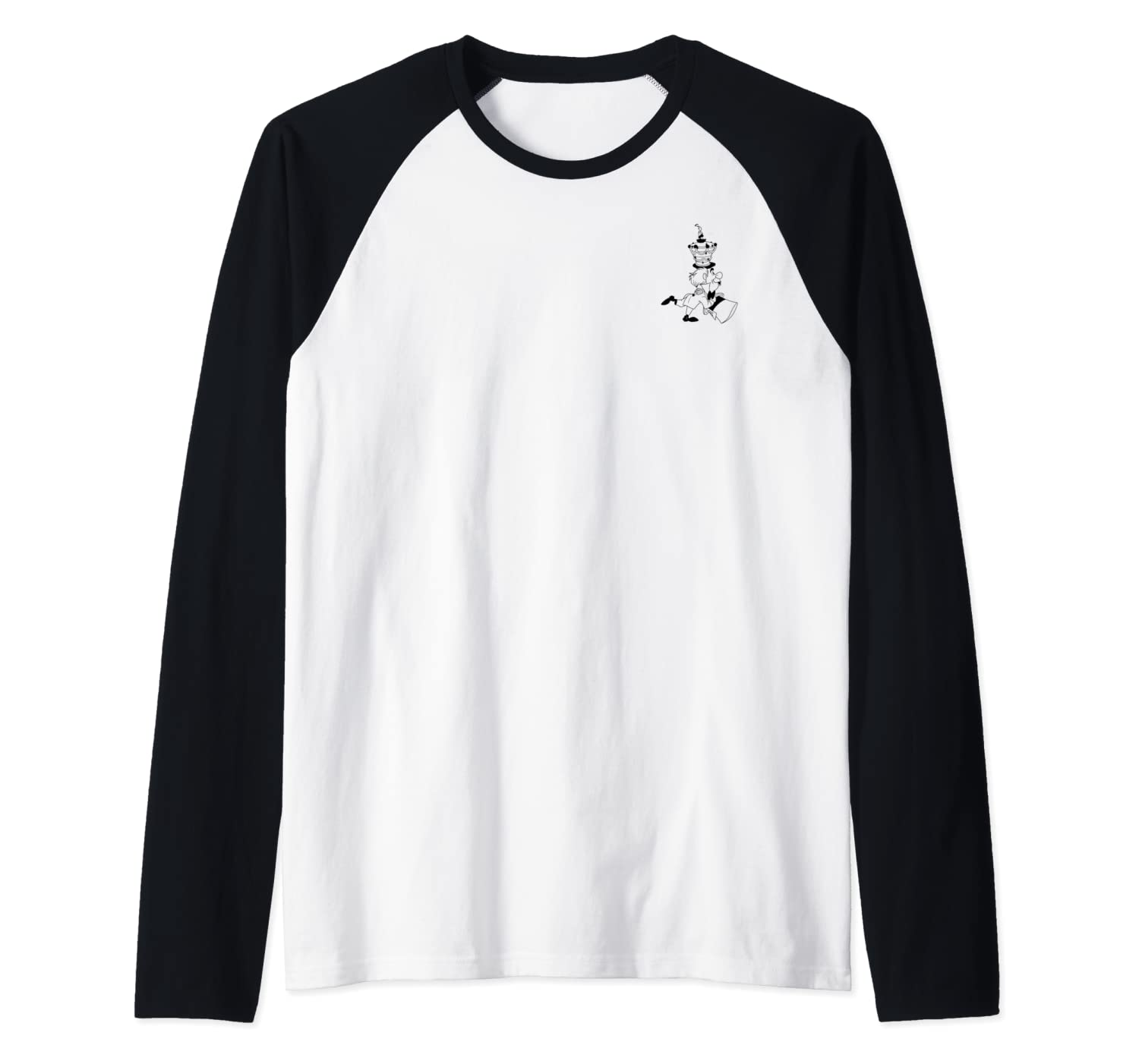 Disney Alice In Wonderland Mad Hatter Left Chest Raglan Baseball Tee