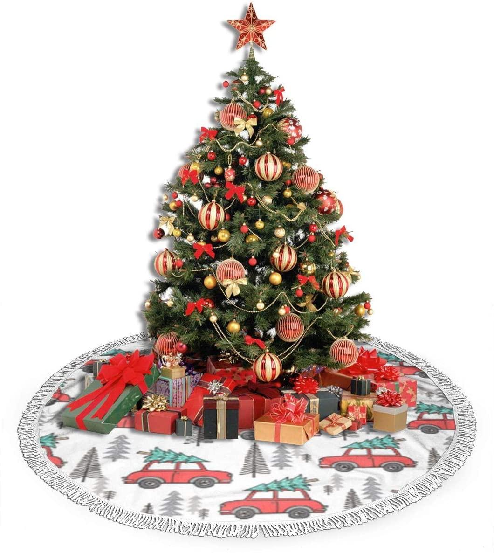 ZJBLHEQ Christmas Tree Cart Christmas Tree Skirt Decoration 48 Inch Round Xmas Tree Mat for Home Holiday Party Yard Ornaments