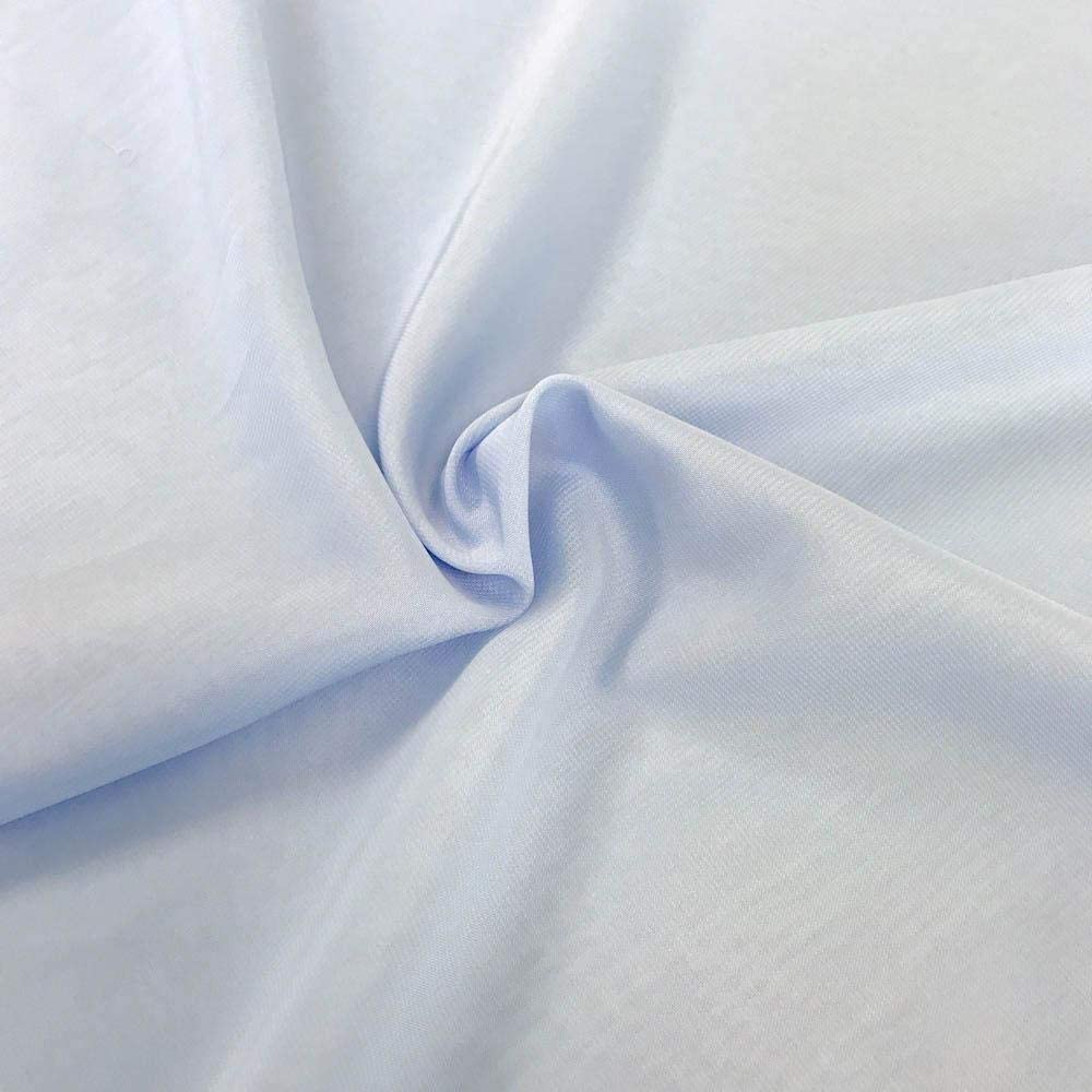 DJBM 59'' Solid Color Sheer Chiffon Fabric Yards Continuous All Colors for DIY Decoration Valance Blue/50 Yards