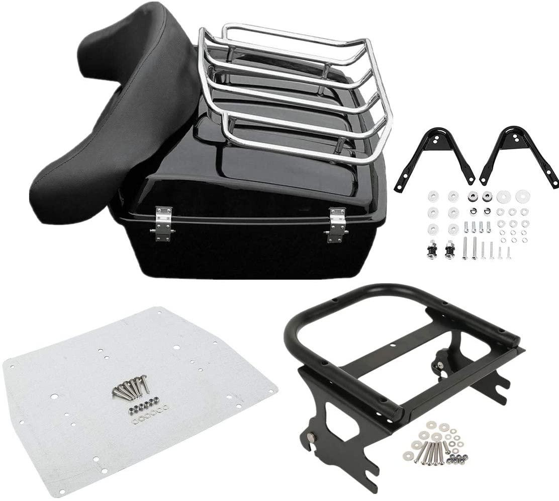 TCMT Chopped Tour Pack Trunk Backrest Luggage Mounting Rack Docking Hardware Metal Base Plate Fit For Harley Touring Road King FLHT FLHX FLTR 1997-2008