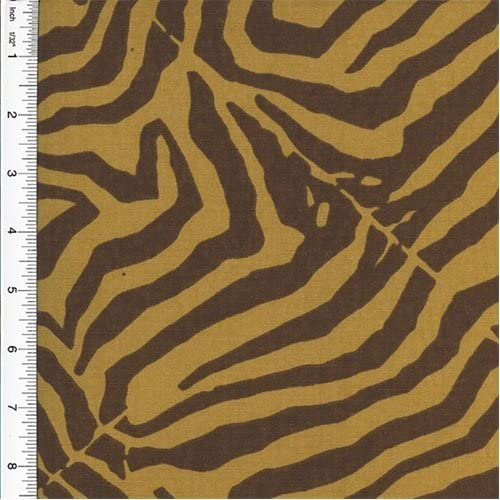 Designer Cotton Brown/Beige Wild Life Zebra Print Brown Home Decorating Fabric, Fabric by The Yard