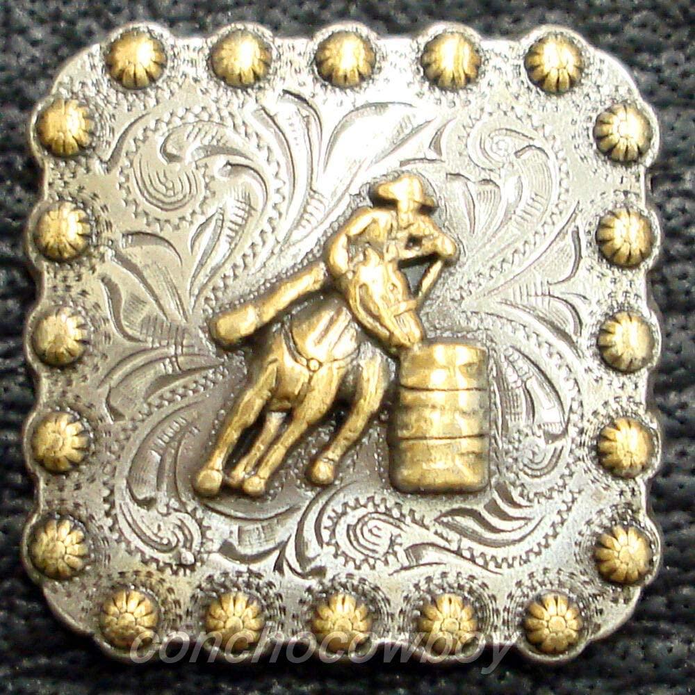 Conchos for Belt - Leather Fastener - Western Horse Saddle TACK Gold Barrel Racer Berry Concho 1 inch Screw Back