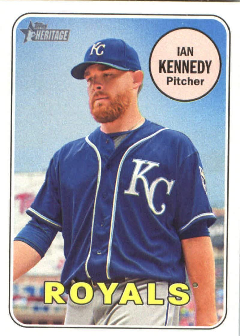 2018 Topps Heritage #363 Ian Kennedy Royals