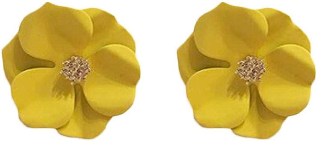 GLOA Earrings for Women, Fashion Painting Multicolor Flower Stud Earrings Summer Beach Jewelry Gift - Green