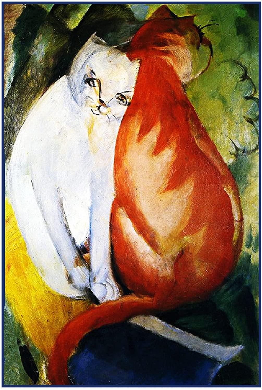 Orenco Originals A Red A White Cat Franz Marc Counted Cross Stitch Pattern