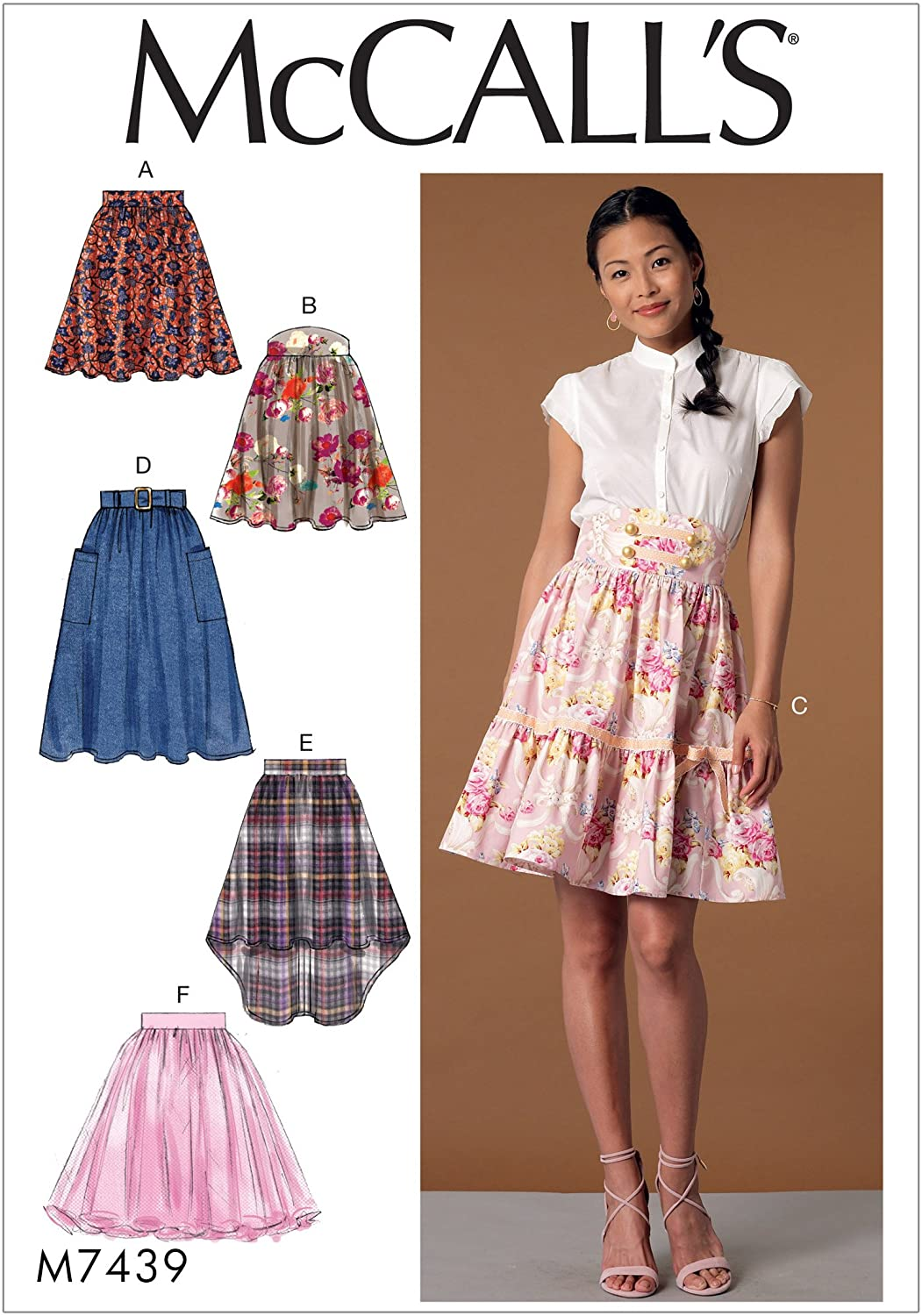 McCall Patterns Misses' Flared Skirts