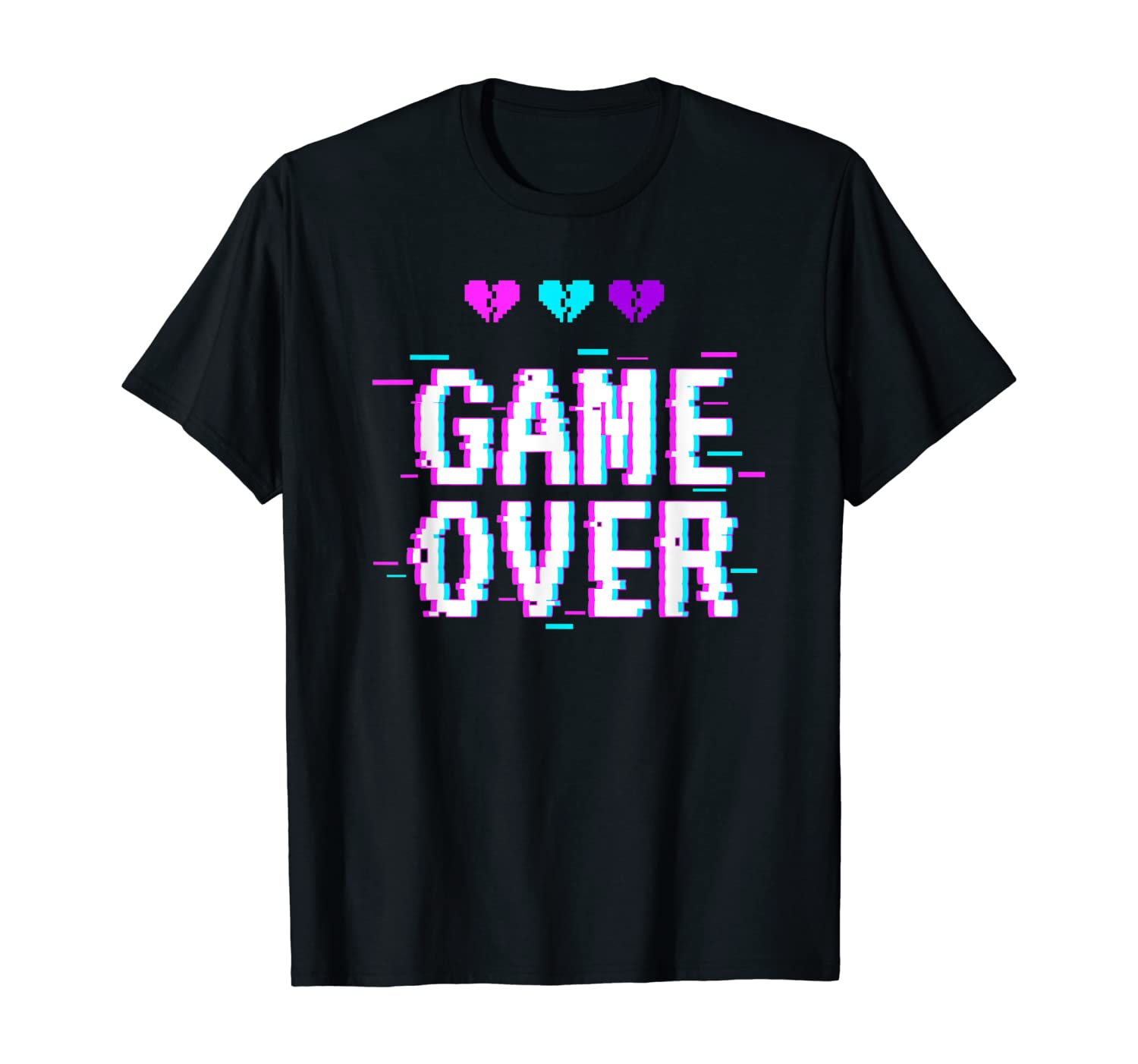 Yami Kawaii Game Over Pastel Goth Aesthetic Vaporwave T-Shirt