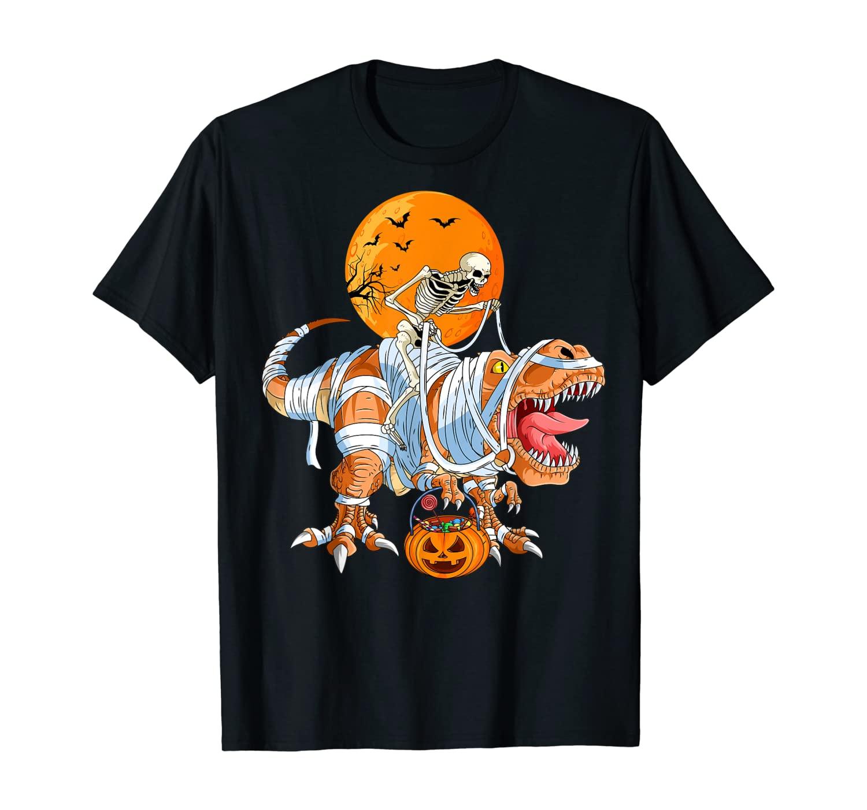 Skeleton T-Rex Halloween For Boys Kids Men Women Costume T-Shirt