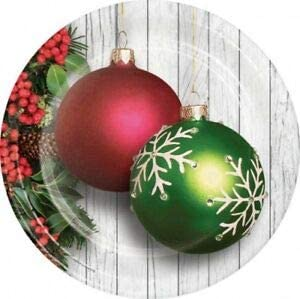 Christmas Ornaments 9 Inch Paper Plates 8 Pack Winter Christmas Party Decoration