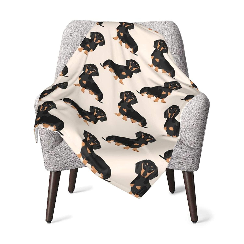 Doxie Dachshund Weiner Dog Pet Dogs Fleece Baby Blanket Plush Fuzzy Receiving Blankets Warm Cozy for Toddler Infant Newborn Boys and Girls