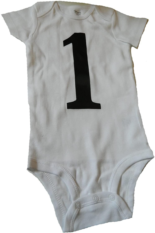 Custom Kingdom Baby 1 One Year Old First Birthday Romper Bodysuit White