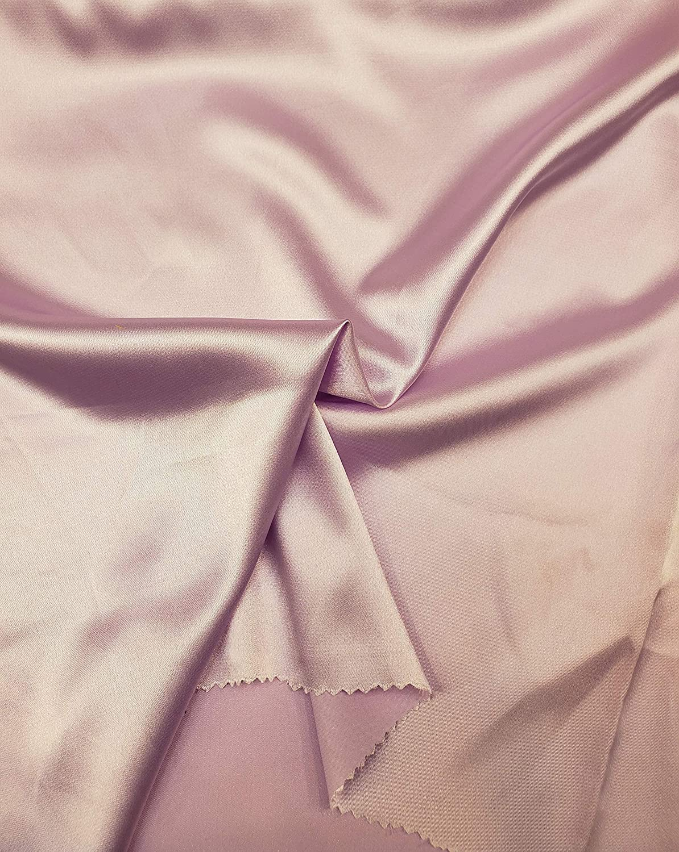 Levi Textiles INC. Stretch Imitation Silk Satin Charmeuse - 2 Way Slight Stretch- 58/60 - Sold by The Yard (#62 - Lavender)