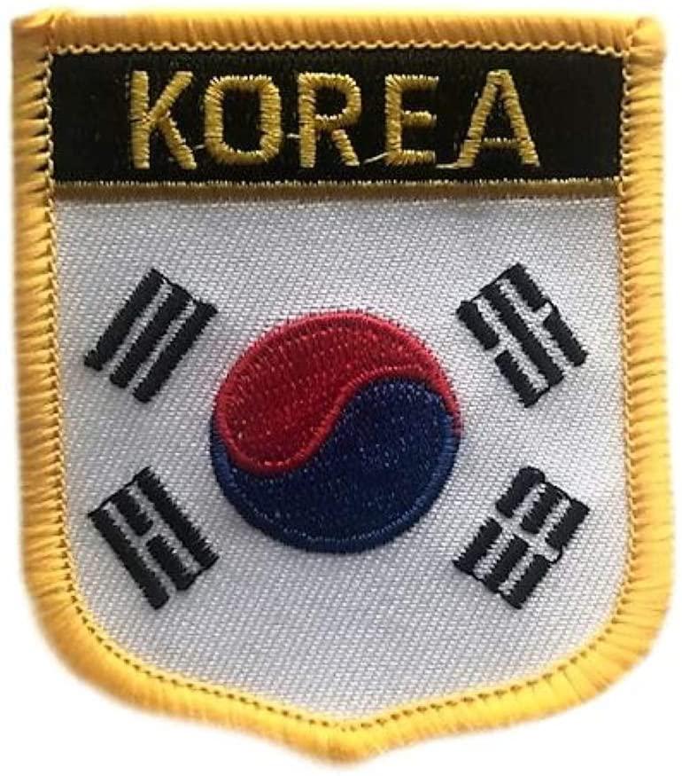 South Korea Flag Shield Travel Patch