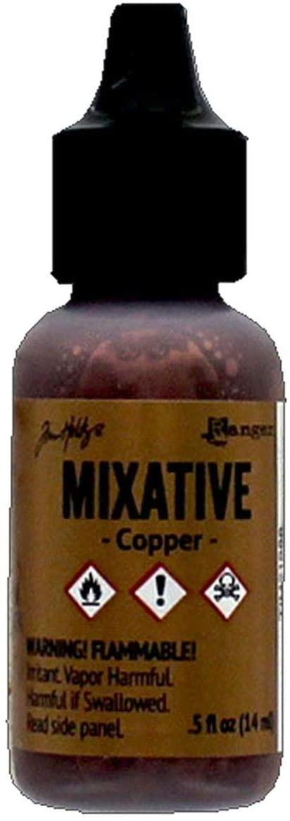 Adirondack Metallic Earthtones Alcohol Ink .5oz-Copper Metallic Mixative