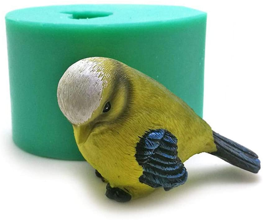 Stylishbuy DIY Silicone Bird Molds Soap Salt Sculpture Mould 3D Simulation Crafts for Cake Chocolate Decoration