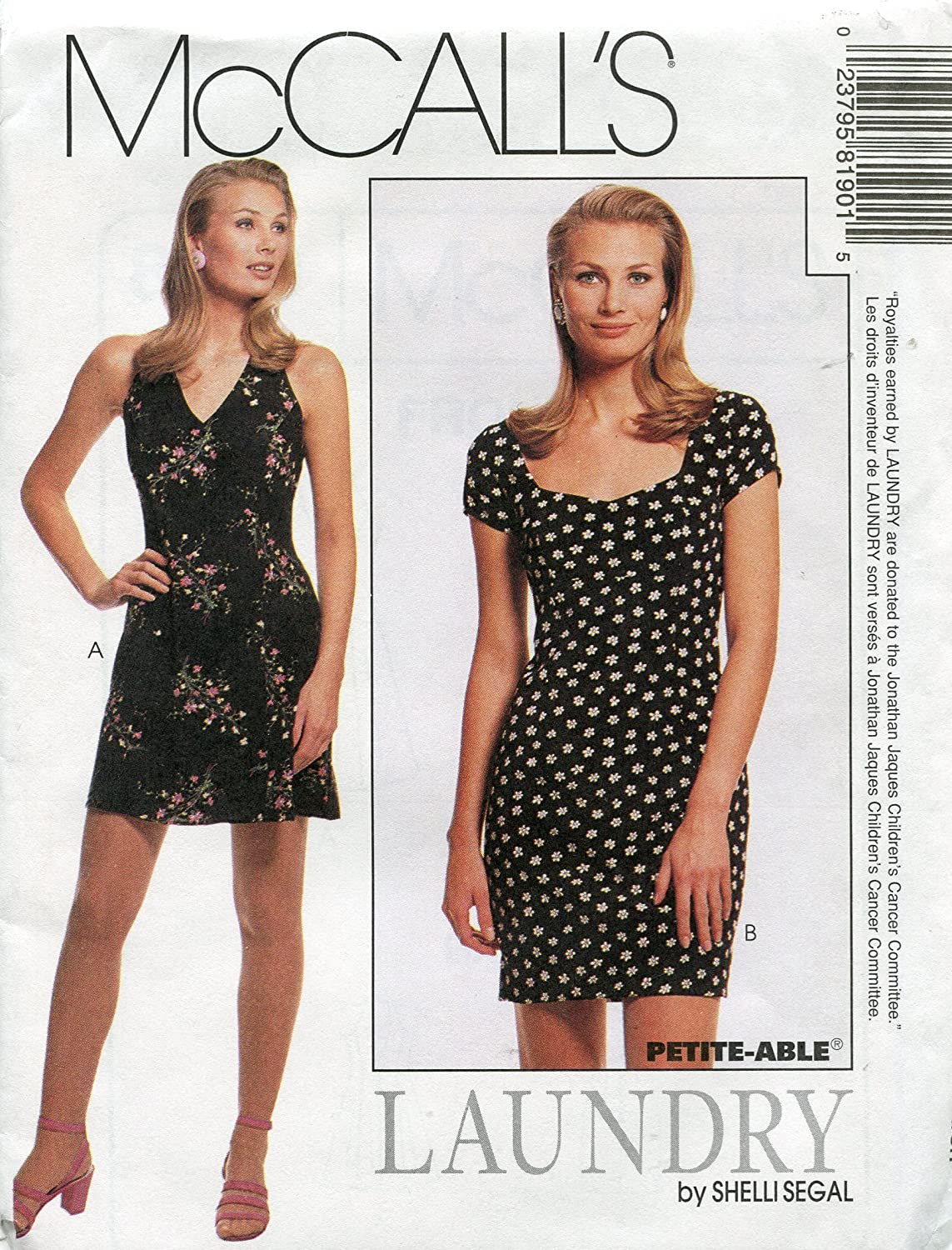 McCall's Pattern 8190 ~ Laundry by Shelli Segal Misses' Lined Halter and Fitted Dress ~ Sizes 10-12-14