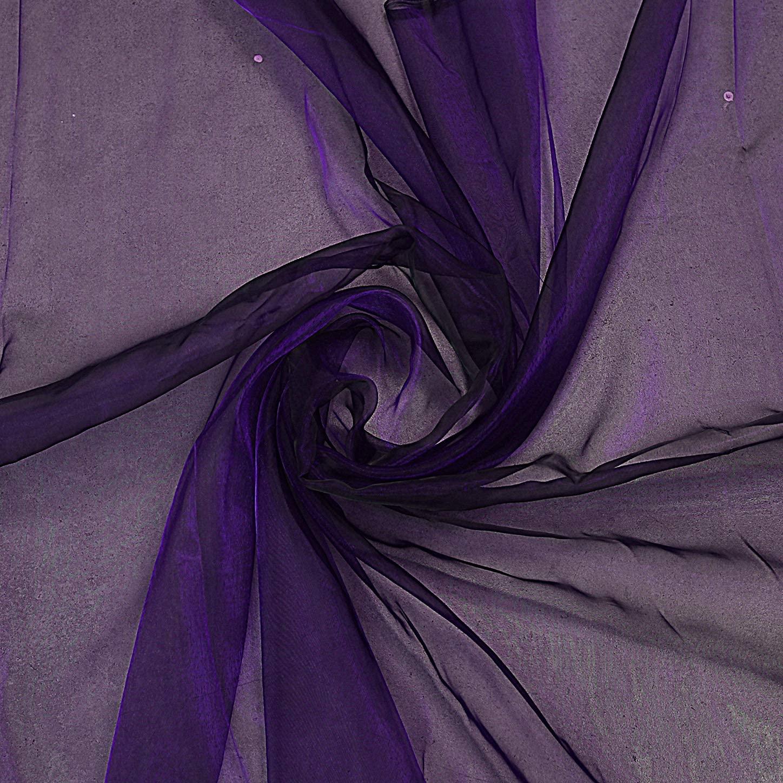 "mds Pack of 35 Yard Bridal Solid Sheer Organza Fabric Bolt for Wedding Dress,Fashion, Crafts, Decorations Silky Shiny Organza 44""- Cadbury Purple"
