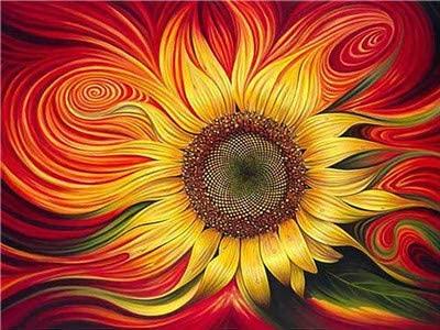 DIY 5D Fashion Diamond Painting Full of Sunflowers Dream Mural Bedroom 15.75X11.8 inch