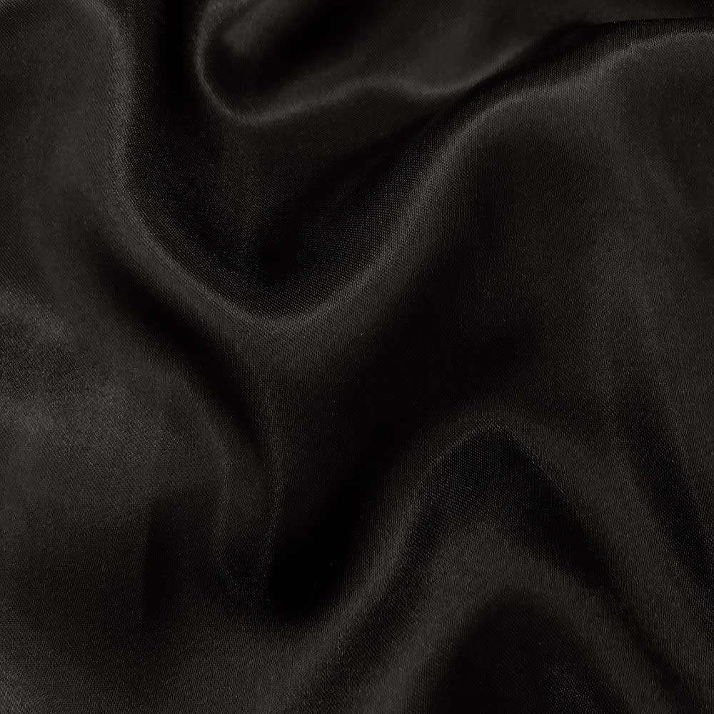 60 inches Wide - by The Yard - Charmeuse Bridal Satin Fabric for Wedding, Apparel, Crafts, Decor, Costumes (Black, 20 Yards)