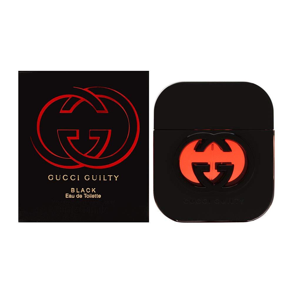 Gucci Eau de Toilette Spray for Women, Guilty Black, 1.6 Fl Oz (Pack of 1)