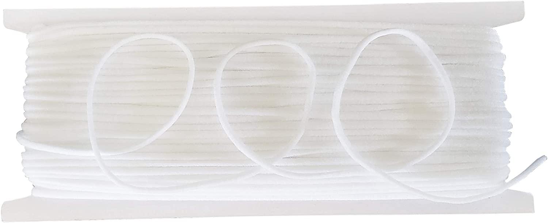 Elastic String for Mask – Premium Thin Elastics for Masks – 3mm / 10 Yards Elastic Band Cord for Masks – Durable and Comfortable Elastic Strap – Elastic Cord for DIY and Crafts
