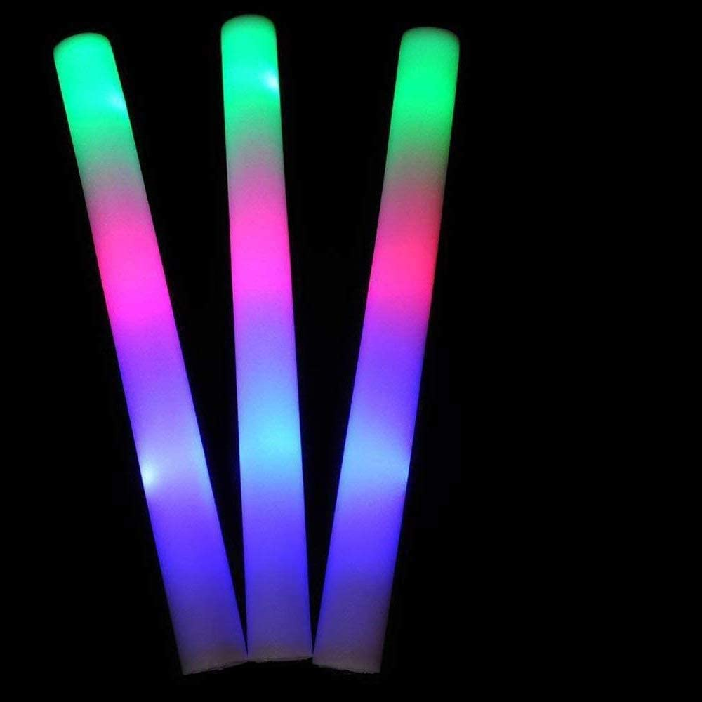 20PCS Light up Foam Sticks,LED Foam Sticks Glow Batons with 3 Modes Flashing Effect for Party, Concert, Halloween,Event,Wedding, Birthday