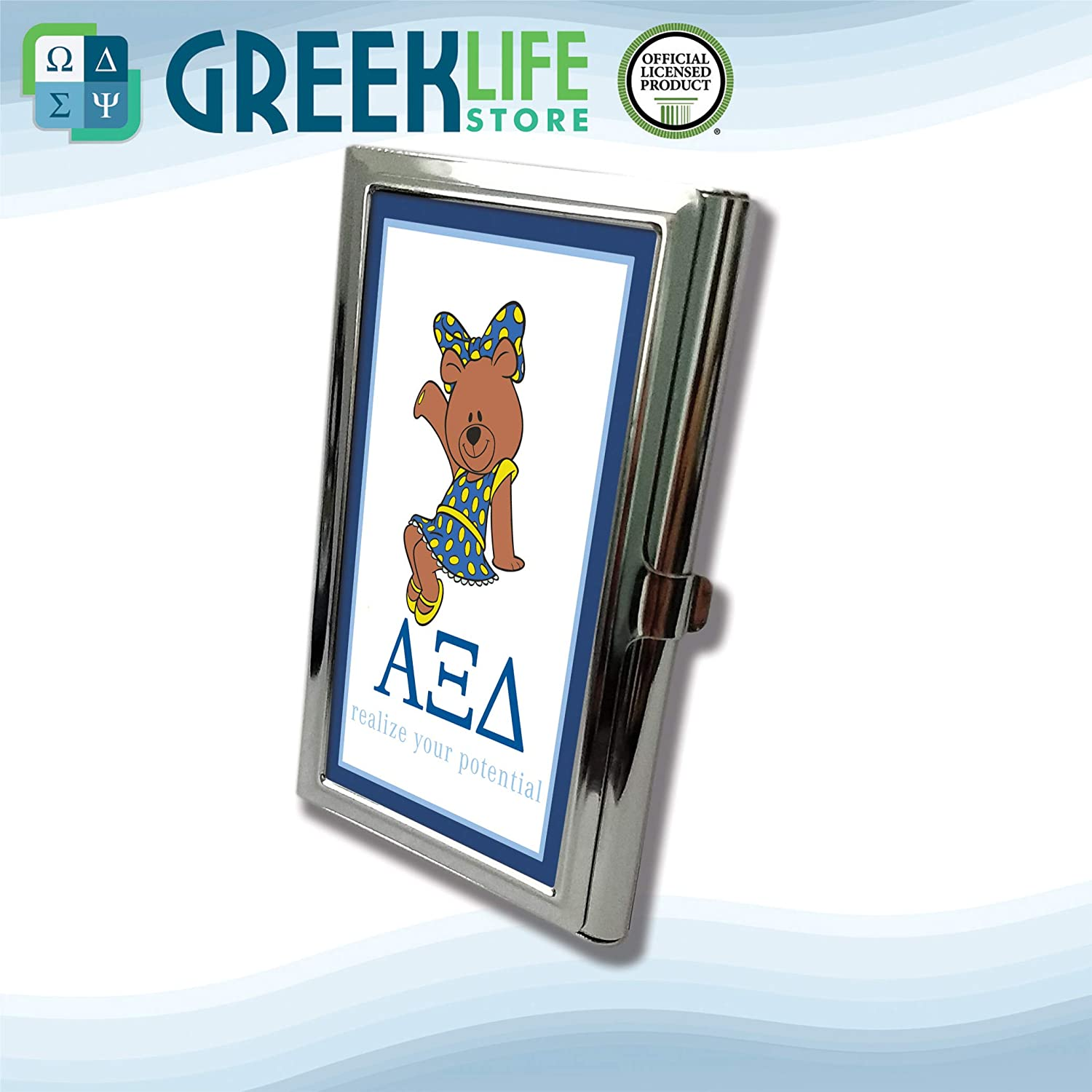 Alpha Xi Delta Business Card Holder Stainless Steel