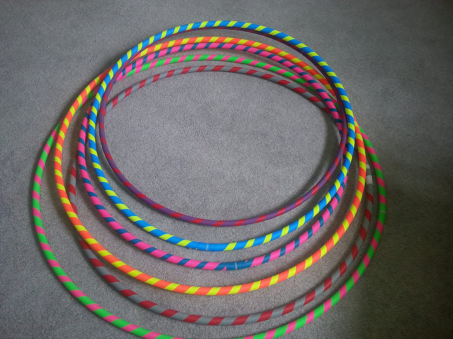 34 3/4 HDPE Gaffers Spiral Taped Practice Hula Hoop