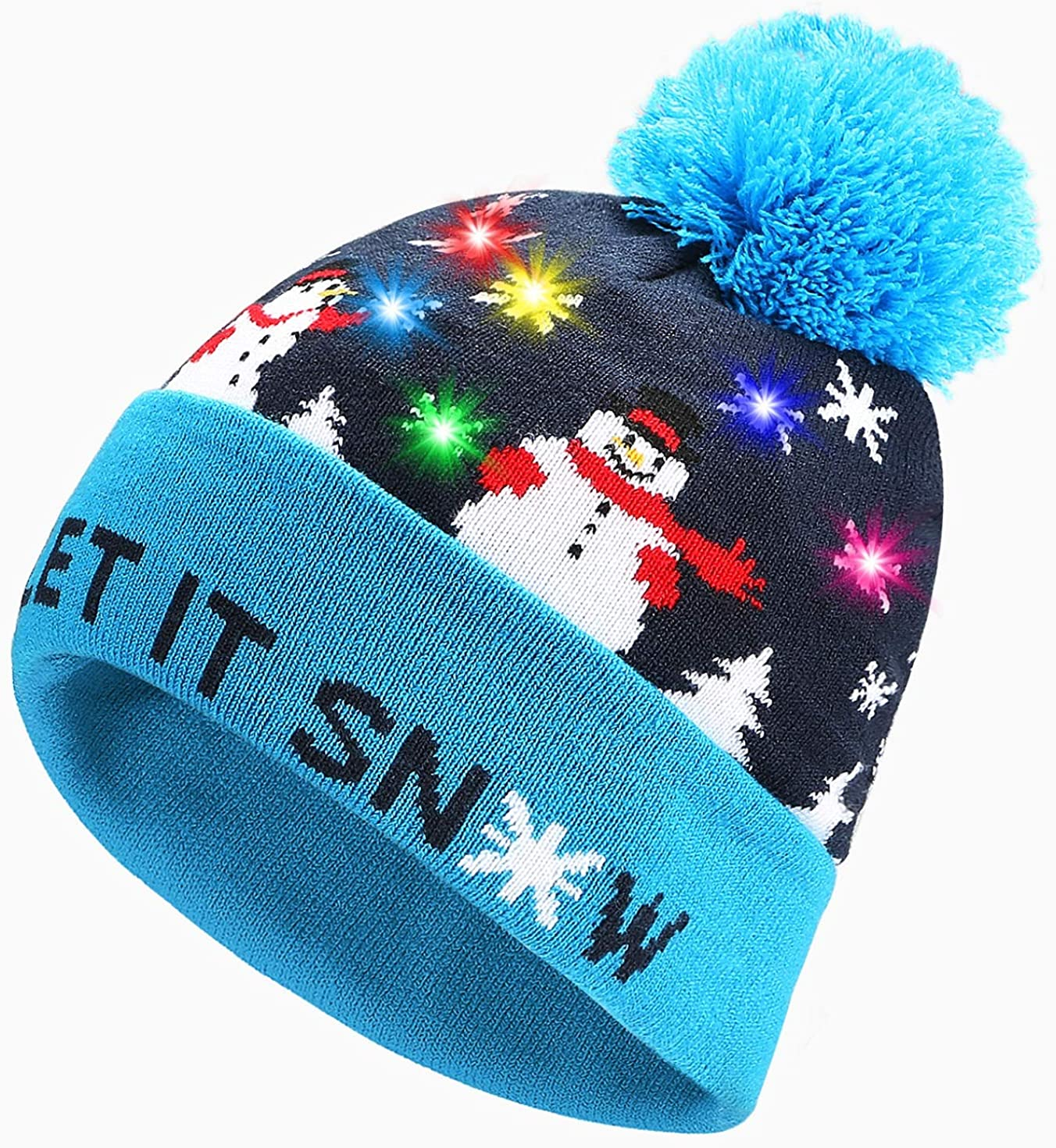 Eaterhom LED Light Up Beanie Hat Knit Cap Led Beanie for Birthday Party
