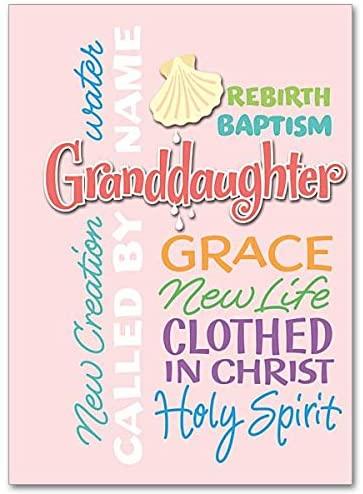 Granddaughter Baptism Card