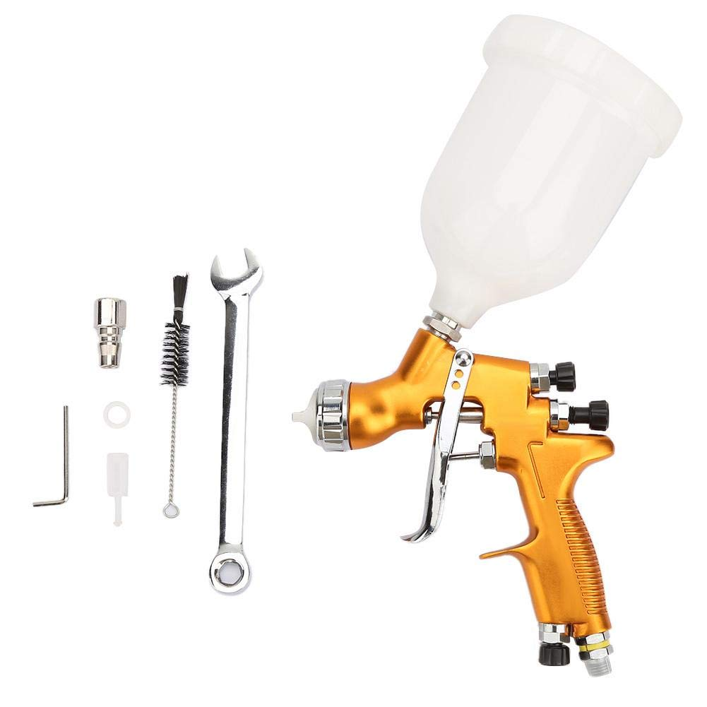 Airbrush Set, Oil Paint Household Furniture Airbrush High Atomization Spray Gun Gravity-Feed Airbrush,Widely Used in The Spraying