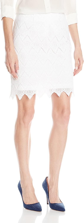 Karen Kane Women's Scalloped Lace Skirt