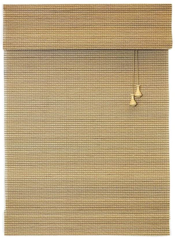 Home Decorators Collection Natural Multi-Weave Bamboo Roman Shade - 30 in. W x 72 in. L (Actual Size 29.5 in. W x 72 in.