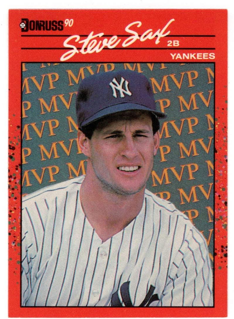 Steve Sax - New York Yankees (Baseball Card) 1990 Donruss Bonus MVP's # BC 22 Mint