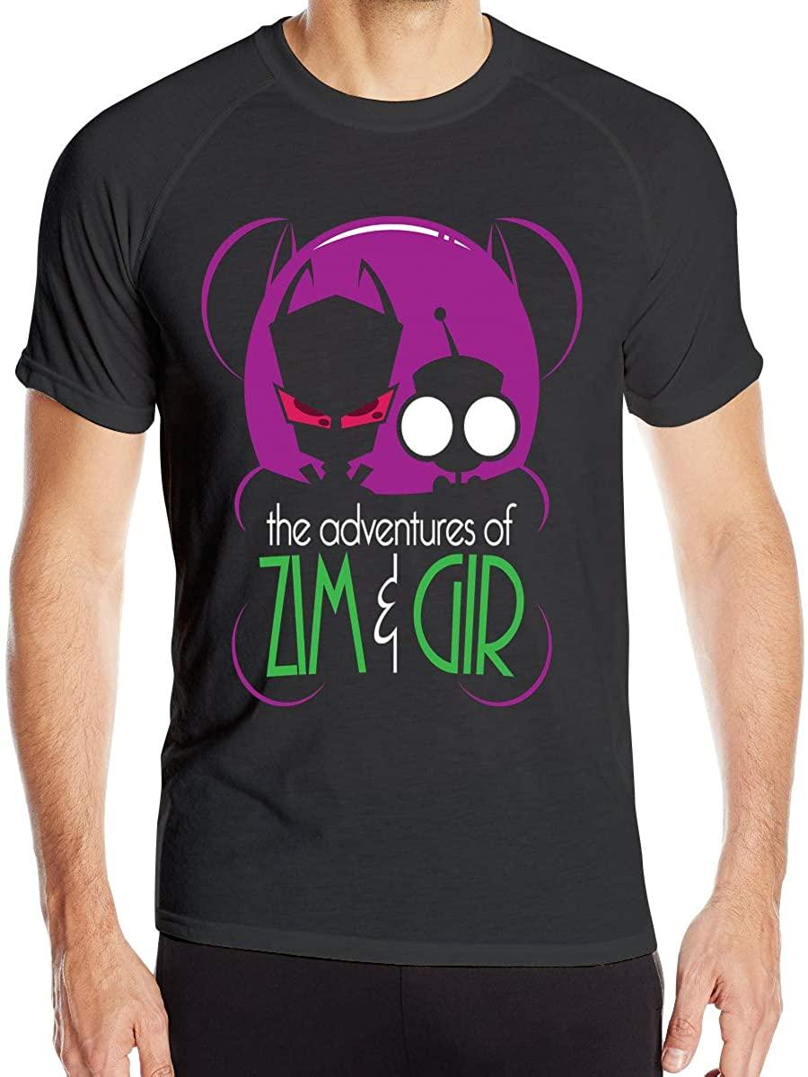 Invader Zim Gir Breathable Fashion Men's Summer Short-Sleeved T-Shirt Fashion Round Neck T-Shirt